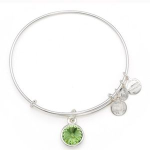 August Birth Month Charm Bangle Alex and Ani